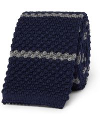 Canali - 6cm Striped Knitted Wool Tie - Lyst