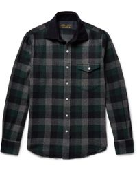 Freemans Sporting Club - Hopkins Checked Wool-blend Flannel Overshirt - Lyst
