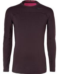 Nike - Hyperwarm Panelled Jersey Top - Lyst