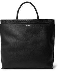 de94f5453fb51 Saint Laurent - Patti Full-grain Leather Tote Bag - Lyst