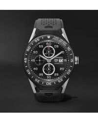 Tag Heuer - Connected Modular 45mm Titanium, Ceramic And Rubber Smart Watch - Lyst