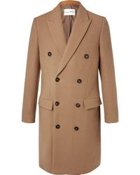 SALLE PRIVÉE - Ives Double-breasted Wool-blend Overcoat - Lyst