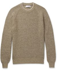 Brunello Cucinelli - Ribbed Cotton Sweater - Lyst