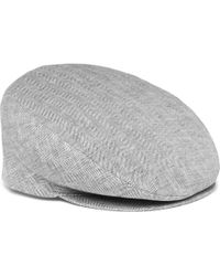24311b54526 Attachment X Kijima Takayuki Linen Herringbone Tweed Hat in Gray for ...