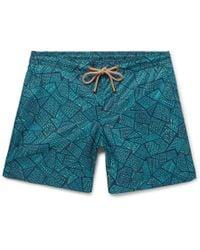Thorsun - Titan Slim-fit Short-length Printed Swim Shorts - Lyst