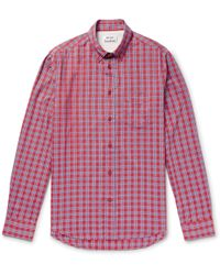 Acne Studios - Isherwood Button-down Collar Checked Cotton Shirt - Lyst