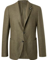 Lardini - Green Slim-fit Unstructured Wool Blazer - Lyst