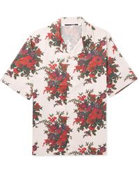 McQ - Billy Camp-collar Floral-print Cotton-poplin Shirt - Lyst