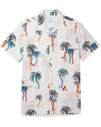 PS by Paul Smith - Camp-collar Printed Cotton-poplin Shirt - Lyst