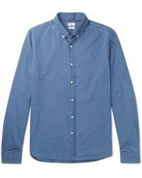 Brunello Cucinelli - Button-down Collar Cotton-chambray Shirt - Lyst