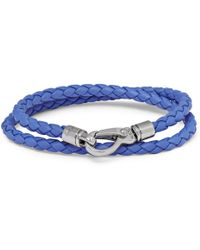 Tod's - Woven Leather Wrap Bracelet - Lyst