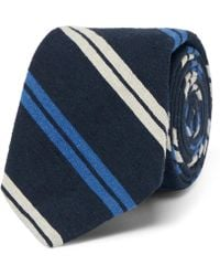 Polo Ralph Lauren - 7cm Madison Striped Slub Silk Tie - Lyst