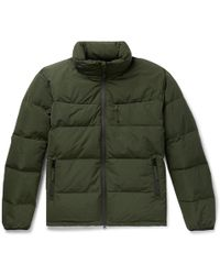 Aspesi - Quilted Shell Hooded Down Jacket - Lyst