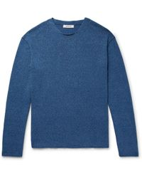 Nonnative | Indigo-dyed Mélange Cotton Sweater | Lyst