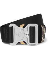 1017 ALYX 9SM - 4.5cm Black Faux Snake-trimmed Webbing Belt - Lyst