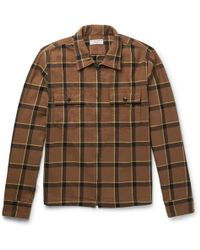 J.Crew - Checked Cotton-flannel Jacket - Lyst