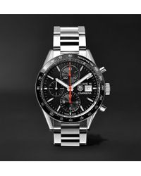 Tag Heuer | Carrera Automatic Chronograph 41mm Steel Watch | Lyst