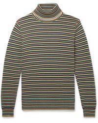 Sandro - Striped Cotton Rollneck Jumper - Lyst