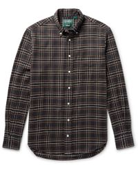 Gitman Brothers Vintage - Button-down Collar Checked Cotton-flannel Shirt - Lyst