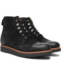 Grenson - Newton Brushed-suede Boots - Lyst
