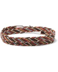 Paul Smith - Woven Cotton Wrap Bracelet - Lyst