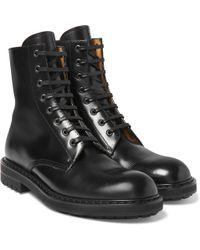 Alexander McQueen - Leather Combat Boots - Lyst