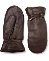 Hestra - Shearling-lined Leather Mittens - Lyst