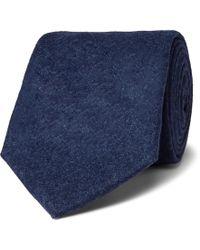 Kingsman - + Drake's 8cm Brushed-wool Tie - Lyst