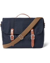 J.Crew - Harwick Leather-trimmed Canvas Messenger Bag - Lyst