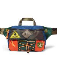 Polo Ralph Lauren - Appliquéd Colour-block Nylon Belt Bag - Lyst