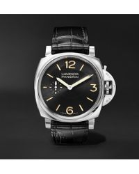Officine Panerai - Luminor 1950 3 Days Acciaio 42mm Stainless Steel And Alligator Watch - Lyst