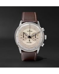 Junghans - Meister Driver Chronoscope 40mm Stainless Steel And Leather Watch - Lyst