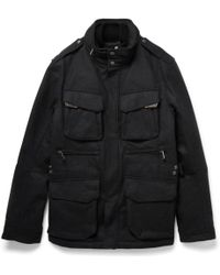 Ralph Lauren Black Label - Mandator Padded And Layered Wool-blend Jacket - Lyst