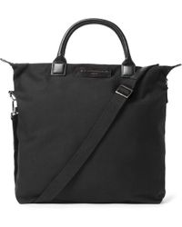 Want Les Essentiels De La Vie - O'hare Leather-trimmed Organic Cotton-canvas Tote Bag - Lyst
