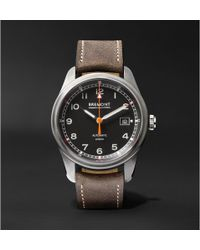 Bremont - Airco Mach 1 Automatic Chronometer 40mm Stainless Steel And Leather Watch - Lyst