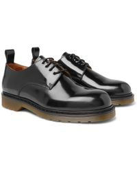 AMI - Polished-leather Derby Shoes - Lyst