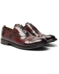 Officine Creative - Anatomia Cap-toe Polished-leather Derby Shoes - Lyst