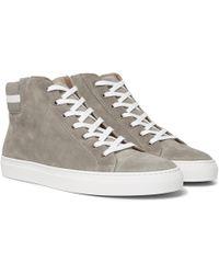 Ralph Lauren Purple Label - Jerold Suede High-top Sneakers - Lyst