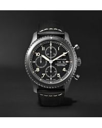 Breitling - Navitimer 8 Chronograph 43mm Black Steel And Leather Watch - Lyst