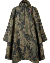 Canada Goose - Field Camouflage-print Shell Poncho - Lyst