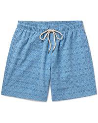 Faherty Brand - Mid-length Printed Swim Shorts - Lyst