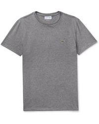 Lacoste - Mélange Pima Cotton-jersey T-shirt - Lyst
