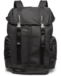 Polo Ralph Lauren - Leather-trimmed Ripstop Backpack - Lyst