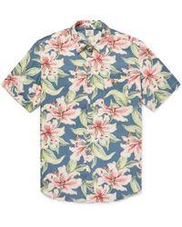 Faherty Brand - Floral-print Linen-blend Shirt - Lyst