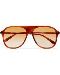 Acetate Browne Thom Style Sunglasses Tortoiseshell In Aviator Lyst naOxRWwx