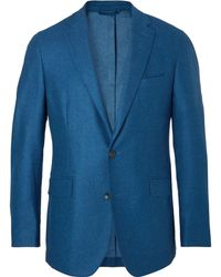 Hackett - Blue Slim-fit Wool Blazer - Lyst
