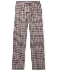 Zimmerli - Checked Cotton And Wool-blend Flannel Pyjama Trousers - Lyst