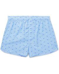 Derek Rose - Ledbury Printed Cotton Boxer Shorts - Lyst