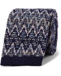 Missoni - 6cm Crochet-knit Wool And Silk-blend Tie - Lyst