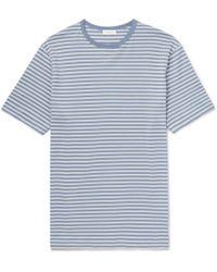 Sunspel - Striped Cotton-jersey T-shirt - Lyst